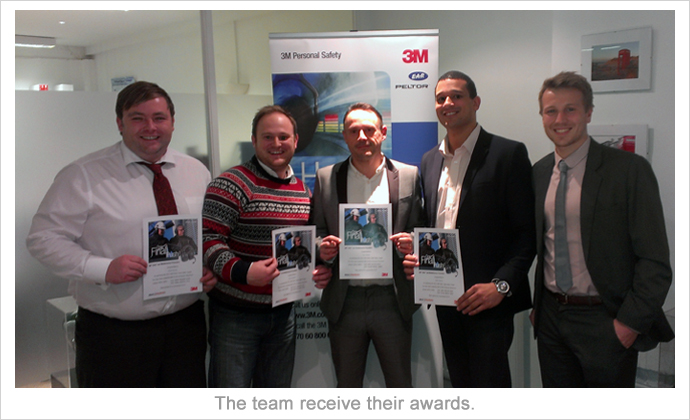 the Best4Systems sales team recognised by 3M Peltor