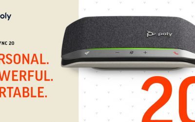 The Poly Sync 20 Portable Speakerphone