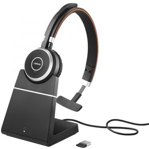 Jabra Evolve 65 Mono USB Bluetooth Headset - Including Charging Stand