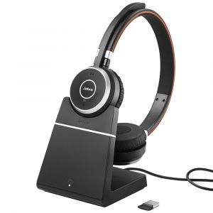 Jabra Evolve 65 Stereo USB Bluetooth Headset - Including Charging Stand